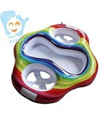 Inflatable Twin Baby Double Swim Float Seat Water Fun Toys Pool Floats - $45.95