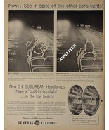 1958 General Electric Headlamp Ad Funny GE Advertising! - $8.41