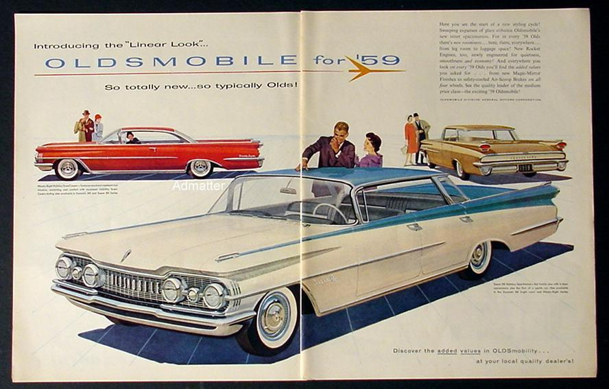 1958 Oldsmobile Ad for 1959 Super 88 Holiday Dynamic 98