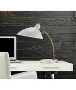 Cardinal Task Table Desk Lamp Mid Century Modern Glam Gold White PB NEW - $177.21