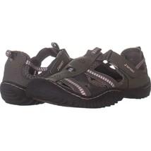 JSport by Jambu Regatta Sport Sandals 065, Dark Gray Peony, 8.5 US - $25.91