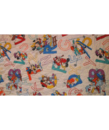 Mickey Mouse Blanket Toddler Quilt Letters ABC White Disney Characters - $20.00