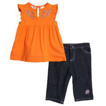 Baby Girls Embroidered Top & Short Set  - $32.00