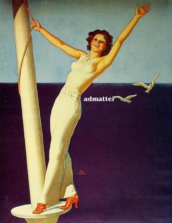 Earl Moran Pin-up Girl Poster Sailing!