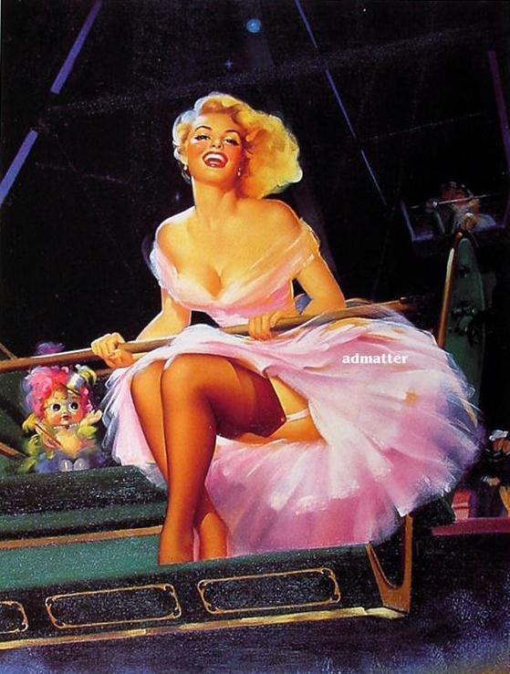 Edward Runci Pin-up Girl  Amusement Park Hottie