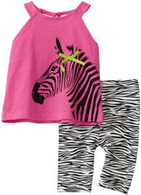 Baby Togs Baby Girls Zebra Top and Leggings Set Size  - $24.00