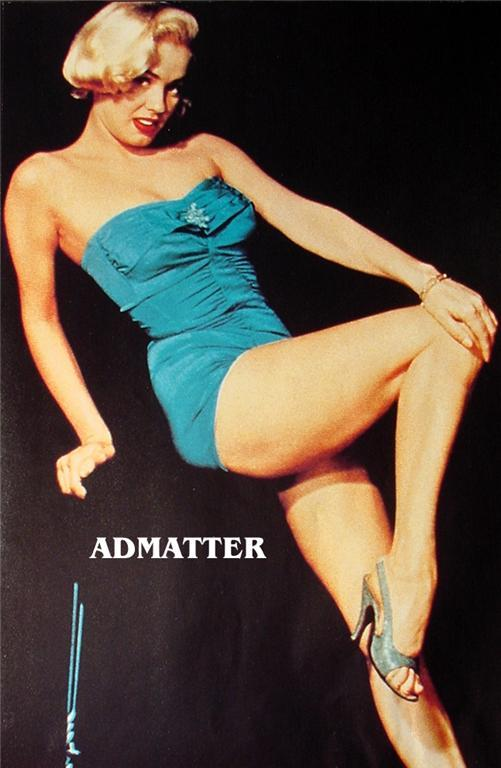 Mamie Van Doren Sexy Legs! Vintage 11X16 Pinup Poster!