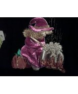Witch Brewing Halloween OOAK Sweatshirt Hand Painted and Designed Appliq... - $30.00