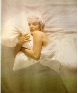Marilyn Monroe 2-sided Pinup Photo In Bed & Taking a Bath - $9.28