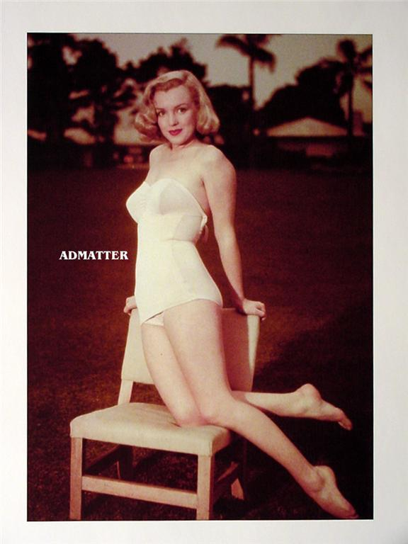 Marilyn Monroe Old Mounted Pin-up Print photo So Sexy!