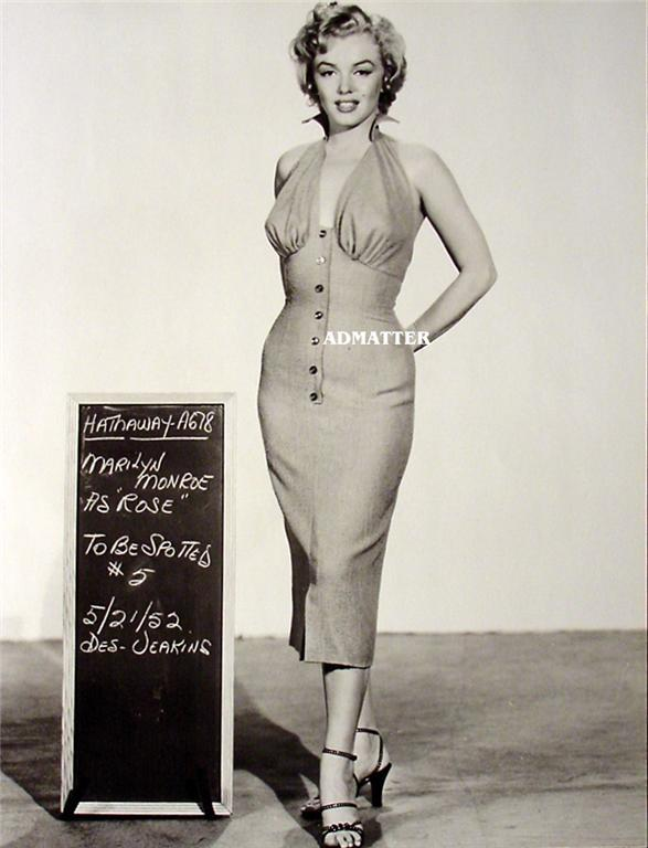 Marilyn Monroe Old Pin-up Print Hot on the Movie set!