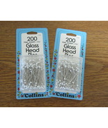 Collins Glass Head Pins - $11.50