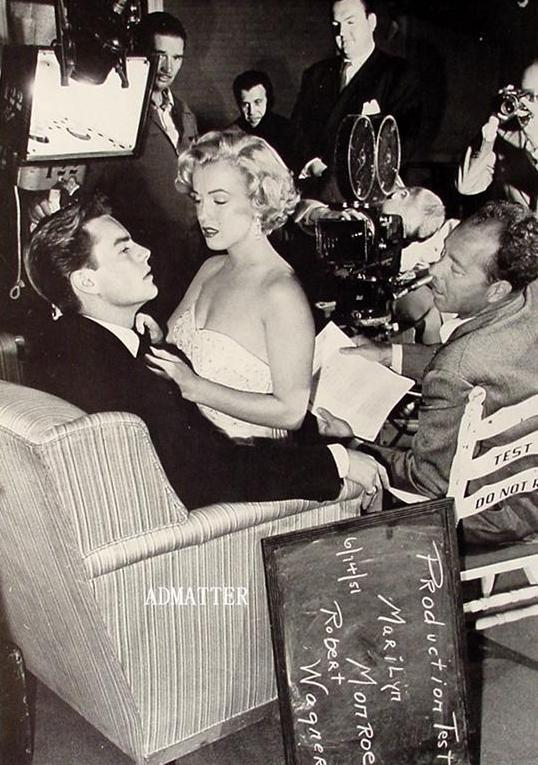 Marilyn Monroe Pinup giving Robert Wagner a Lap Dance!