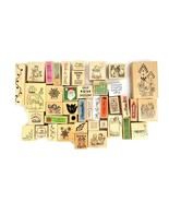 Lot Of 115 Rubber Stamps New & Used Huge Variety, Sayings, Holiday Large... - $41.71