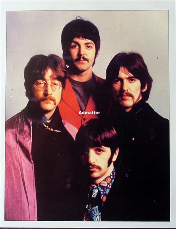 Old Beatle Pinup Poster Lennon McCartney Harrison Ringo