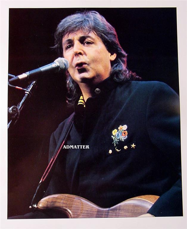 Old Beatles 2-Sided Poster John Lennon & Paul McCartney
