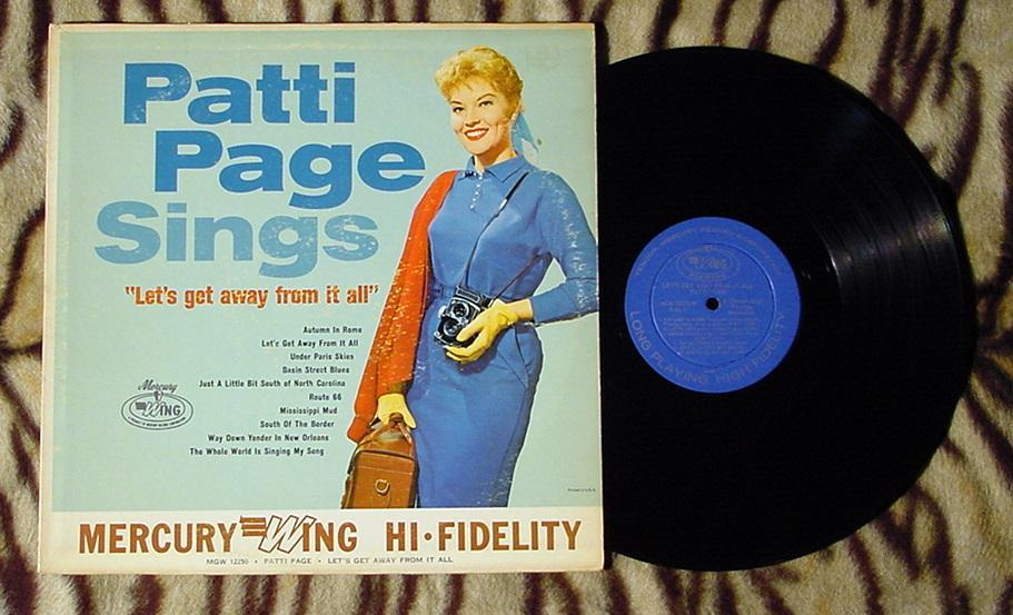 PATTI PAGE LETS GET AWAY FROM IT ALL MONO NRMT VINYL