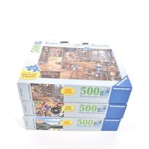 Lot 3 Ravensburger Large Format 500 Pieces Puzzles Complete - $24.74