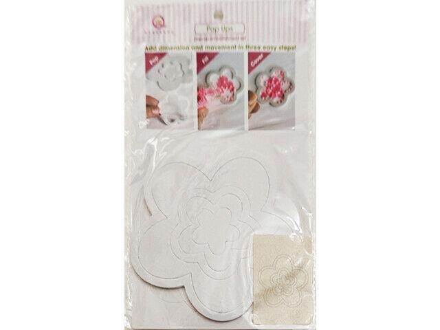 Queen & Company Pop Ups Flower Embellishment Set, Make Shaker Cards Easily!