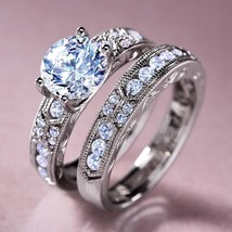 Stauer DiamondAura® Dearly Beloved Engagement Ring Set Size 7 - $110.00