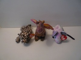 Ty Beanie Babbies Spotted Cat Freckles &  Dragon Scorch & Zodia Rat Lot ... - $9.89
