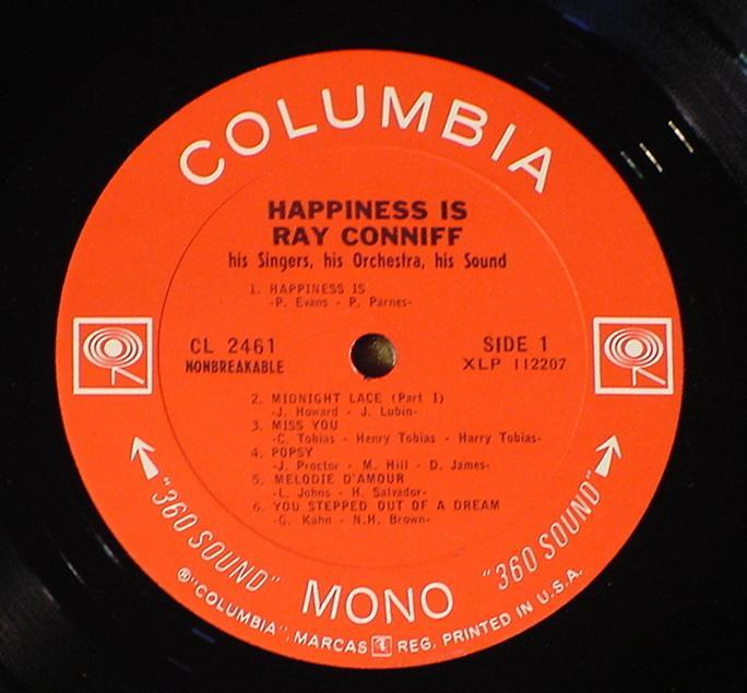 RAY CONNIFF HAPPINESS IS CL-2461 NRMT+ 1966 LP SHRINK!