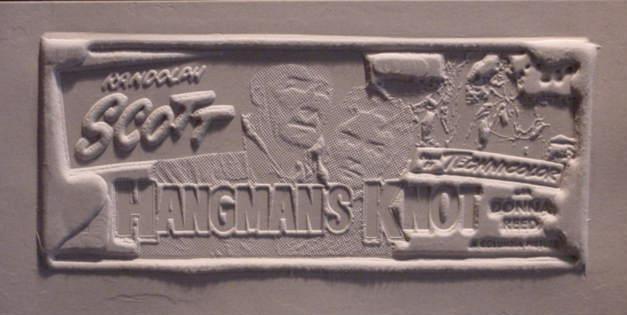Randolph Scott Donna Reed Rare Hangmans Knot Print Mold