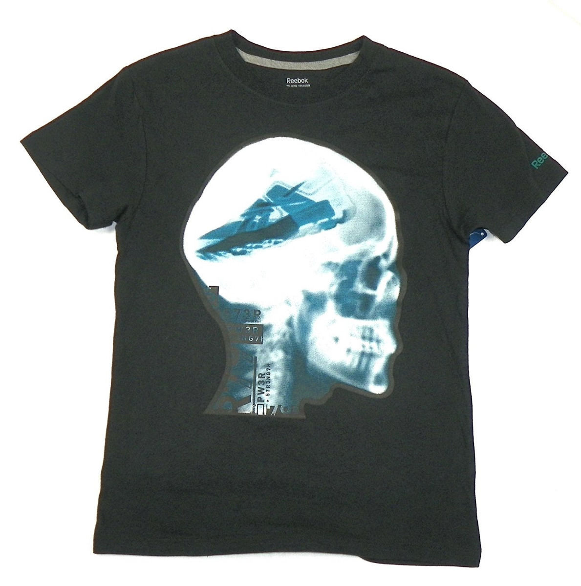 Boy's 8-20 Shirt Reebok Classics Shoe Brain Skull X-Ray Graphic Tee T-Shirt NEW