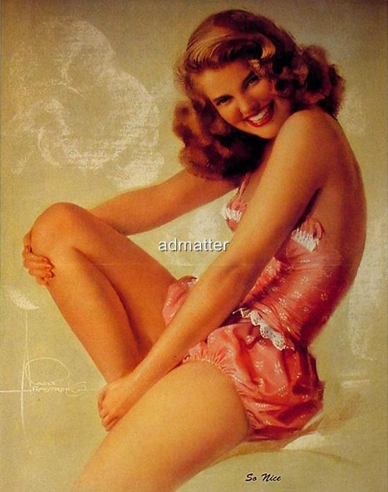 """Rolf Armstrong Sexy Pin-up Girl Poster """"So Nice"""" 8X10 (#2)"""