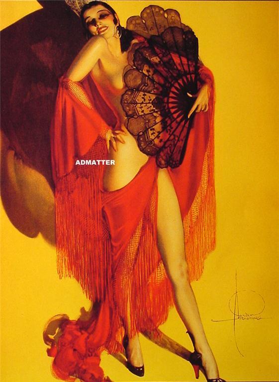 "Smoking Hot 9"" X 12"" Pin-up Girl poster Rolf Armstrong! (#2)"