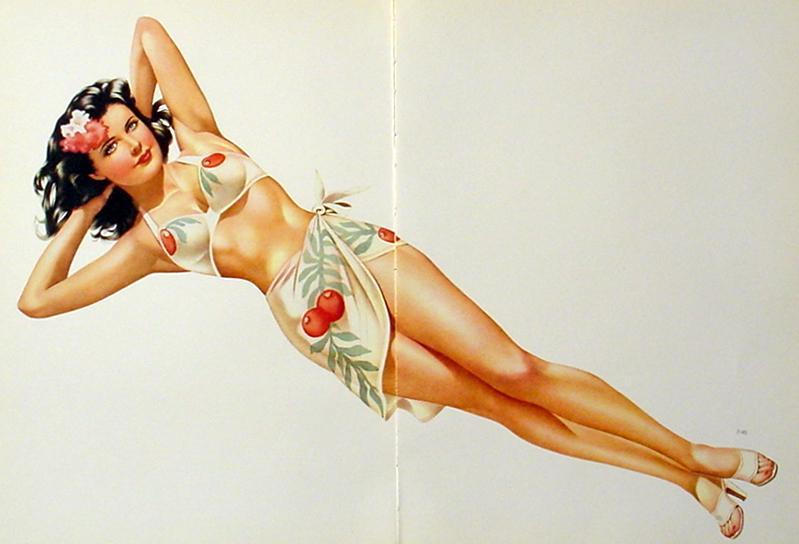 VARGAS 1945 2 PAGE PIN-UP GIRL 2-SIDED HOTTIES LOT OF 3 DIFFERENT PRINTS