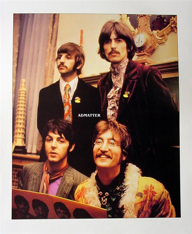 Vintage Beatles Double-Sided 12X14 Pin-up Poster Sweet!