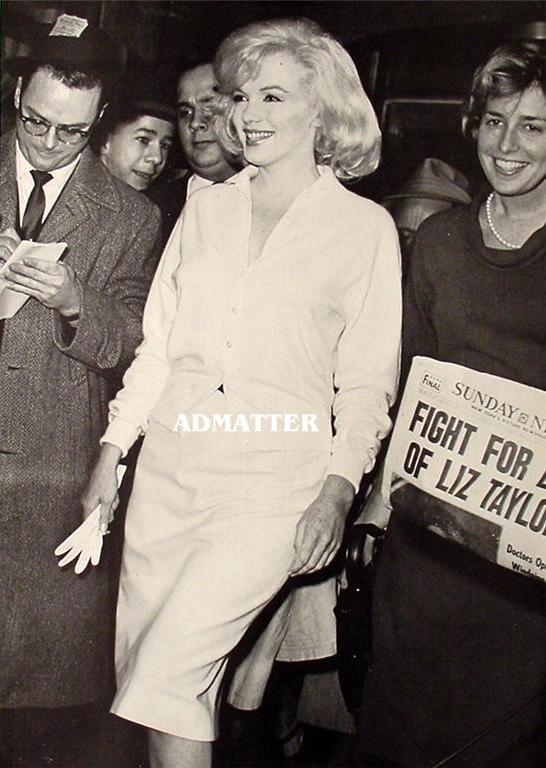 Vintage Marilyn Monroe Pin-up Print Beautiful Smile
