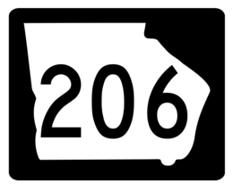 Georgia State Route 206 Sticker R3872 Highway Sign - $1.45+
