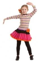Girls Striped Ruffle Dress & Black Leggings  - $54.00