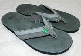 SANUK Distressed FLIP FLOPS Thongs SANDALS Mens Sz. 10 GRAY Great Look!!  - $34.80 CAD