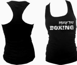 Muay Thai distressed print boxing MMA women/junior racerback body fit tank top - $12.99