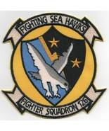 """4.25"""" NAVY VF-126 HISTORICAL SQUADRON YELLOW SEA HAWKS EMBROIDERED JACKE... - $18.04"""