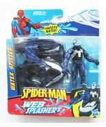 """Spider-Man VENOM Web Splashers Shoots Water Spitter Action Figure NEW 2009 4"""" - $37.52"""