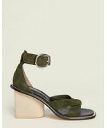 NEW $600 Paul Smith Shoes Delta Heel Suede Sandal in Green sz 36 - $194.04