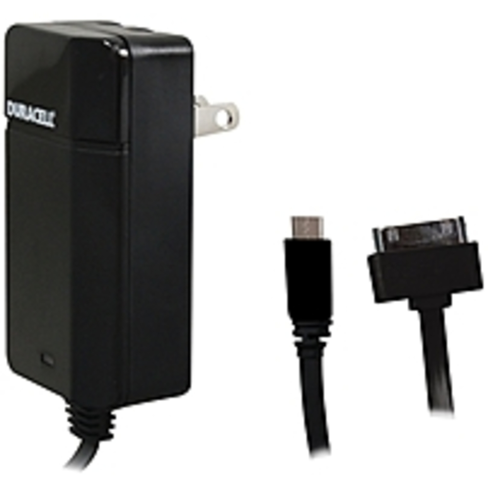 Duracell PRO154 Universal AC Charger with 6 Feet Micro USB to 30-Pin Cable - Bla - $22.50
