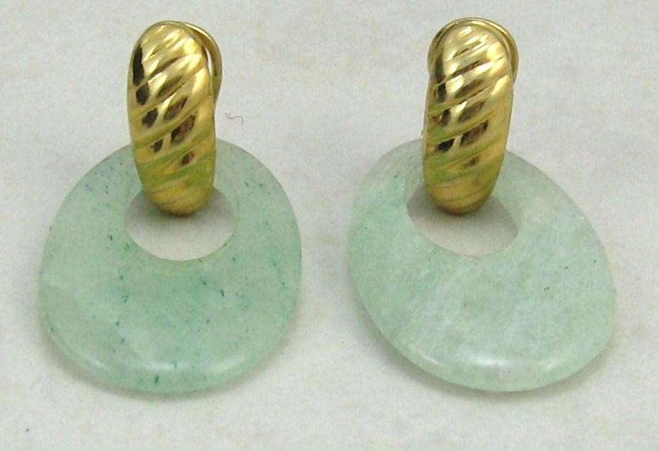Handcraft Gems Rose quartz silver gold wire/dangle/clip back earring