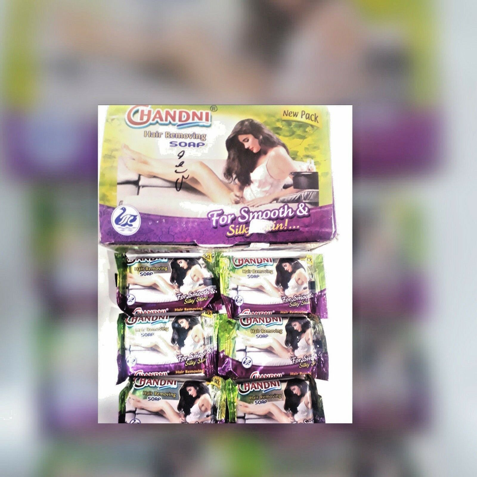 8 piece X CHANDNI HAIR REMOVING SOAP 40 gm FOR SMOOTH & SILKY SKIN *