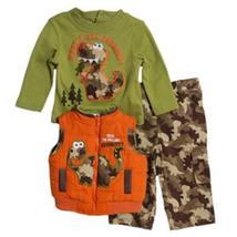 Baby Togs Infant Boys Dinosaur Vest and Pant Set   - $44.00