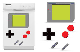 Dry Erase Gamer Decals For Samsung Dishwasher Old School Retro Stickers GAME BOY - $24.70