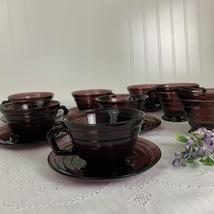 Hazel-Atlas Moderntone Amethyst Coffee/Tea Set 14pc. - $94.95