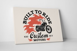 "Built To Ride Motorcycle Pop Art Gallery Wrapped Canvas Print. 30""x20 or... - $42.52+"