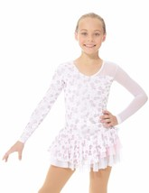Mondor Model 2971 Ladies Skating Dress - Pink Swirls - $88.62+