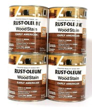 4 Cans Rust-Oleum 32oz Ultimate Wood Stain 344723 Early American Dries I... - $47.99