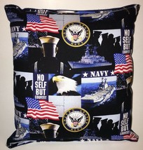 Navy Pillow United States NAVY Pillow Patriot Pillow HANDMADE in USA Arm... - $9.99